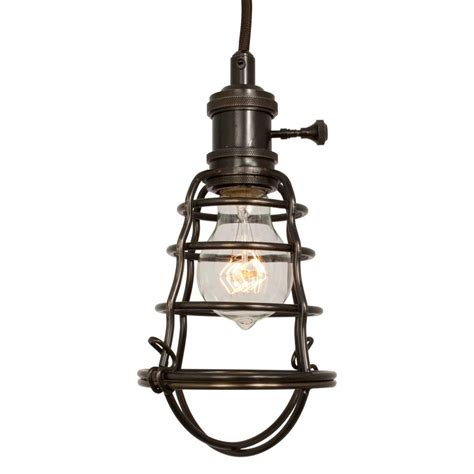 home depot pendant lights home decorators collection 1 light aged bronze cage