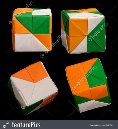 origami style photo of paper cubes folded origami style