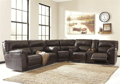 3 reclining sectional sofa barrettsville durablend 174 3 reclining sectional