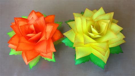 really easy origami flower diy paper roses how to make paper flowers easy