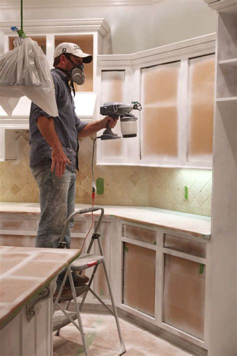 spray painting kitchen cabinets painting cabinets home ideas