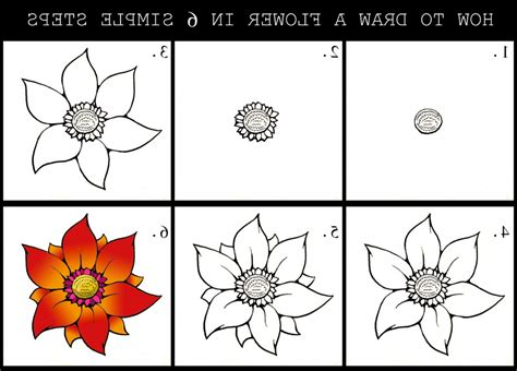 flowers step by step flower step by step drawing library