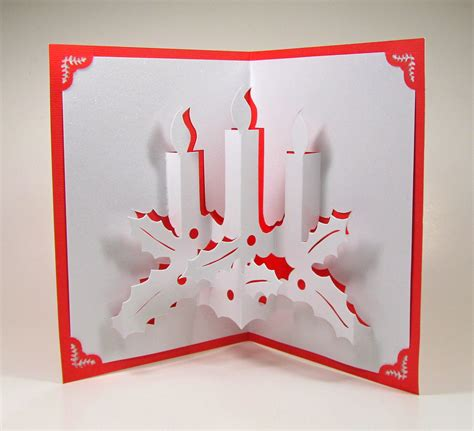 up greeting cards candles 3d pop up greeting card home d 233 cor by