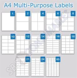 printable address labels a4 plain white sticky self