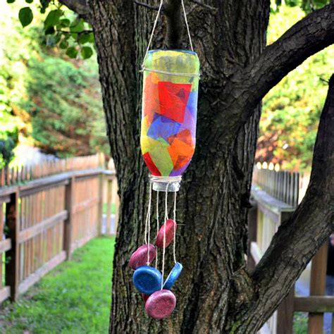 wind crafts for tea bottle wind chime family crafts