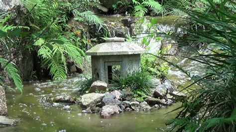 natural water sounds japanese garden meditation relaxation