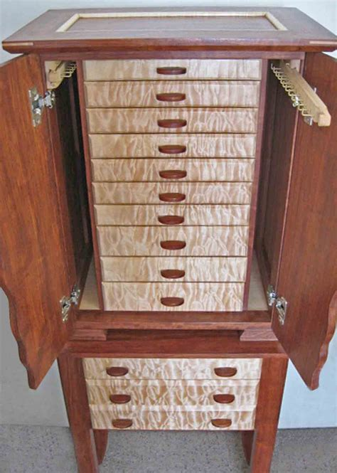 how to make a jewelry armoire necklace holder beautiful handmade armoire jewelry box of