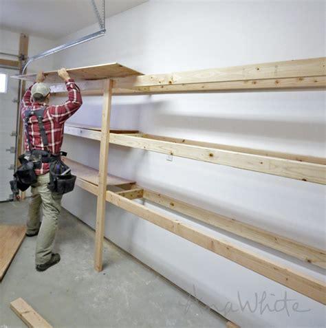 shelves for garage easy and fast diy garage or basement shelving for tote storage