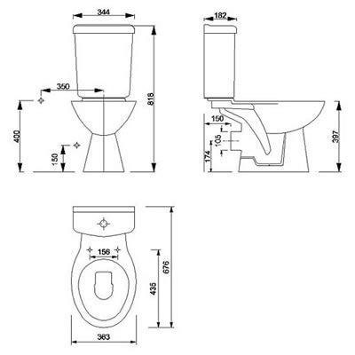 Eco Toilet Dimensions by Toilet Standard Size Cerca Con Google Standard Size