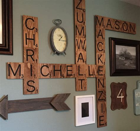 scrabble letter wall tiles family wood scrabble wall crafty morning