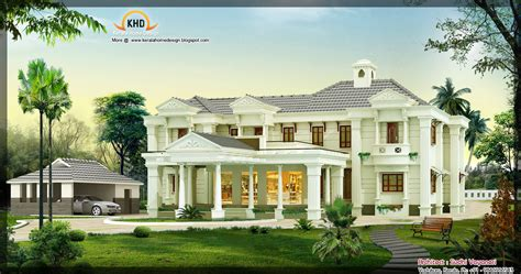 luxery home plans 3850 sq ft luxury house design kerala home design and