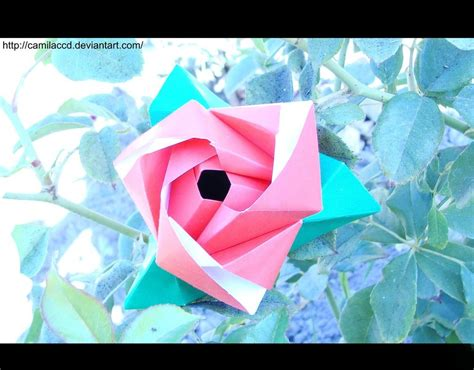 origami flower cube origami flower cube 2 by camilaccd on deviantart