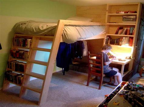 how to build a bunk bed with desk wooden furniture plans
