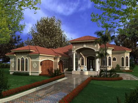 house plans for one story homes luxury one story mediterranean house plans mediterranean