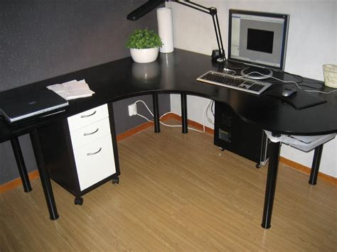 wrap around computer desk swedish quot wraparound desk made from one sheet of plywood quot
