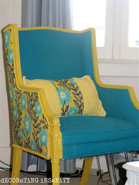 spray painting fabric furniture this chair was painted with fabric spray paint in teal