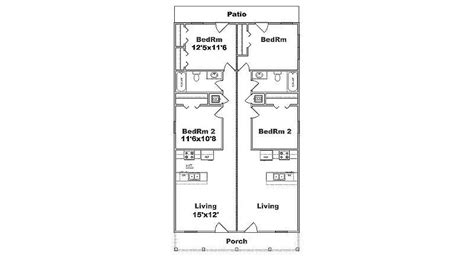 duplex floor plans for narrow lots narrow lot duplex plan j1690d b