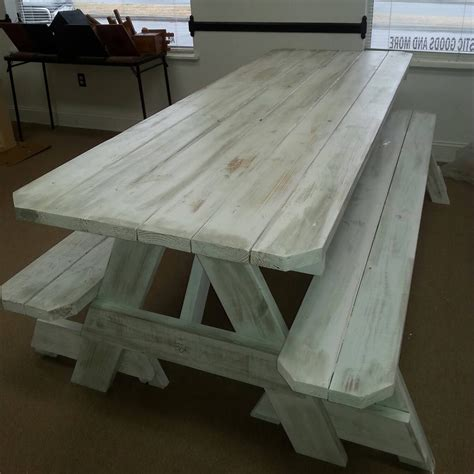 custom picnic tables picnic tables distressed finish custom made to order 2x6