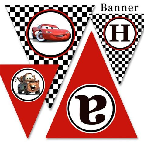 3 Letters Car Name by Diy Printable Cars Cars 2 Happy Birthday Banner