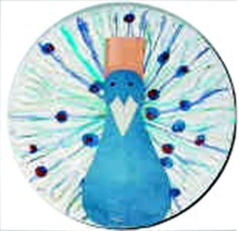 peacock paper plate craft peacock crafts