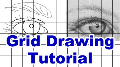 grid drawing how to draw using a grid grid drawing tutorial