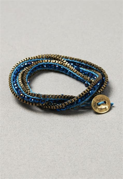 thread and bead bracelets turq thread and bead wrap bracelet