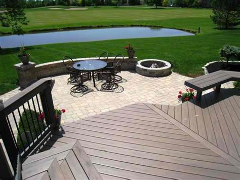 deck to patio designs patio and deck combinations columbus decks porches and