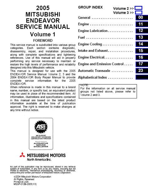 car repair manuals online free 2004 mitsubishi outlander electronic valve timing service manual 2009 mitsubishi endeavor workshop manual free downloads mitsubishi endeavor