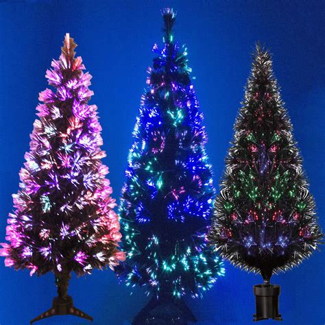 6ft black fibre optic tree black fibre optic tree colour changing 2ft 3ft