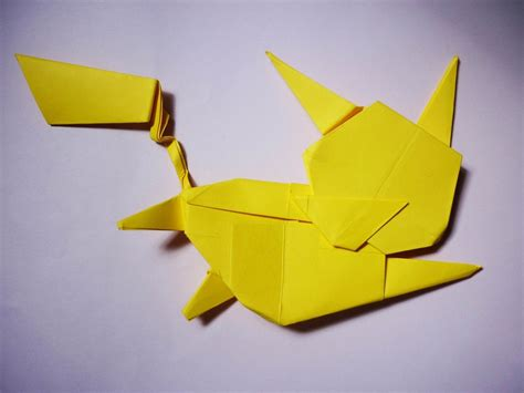 pokémon origami how to make an origami flying pikachu all