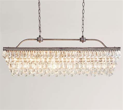 rectangle chandelier clarissa drop rectangular chandelier pottery barn