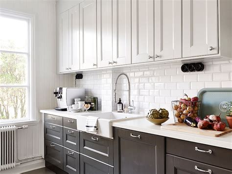 lower kitchen cabinets white cabinets black lower cabinets contemporary