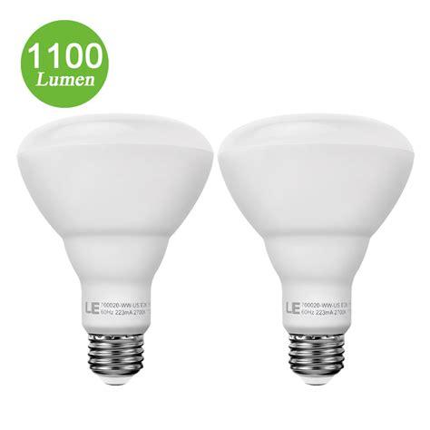 15w br30 e26 led bulbs 1100lm led recessed can lights le 174