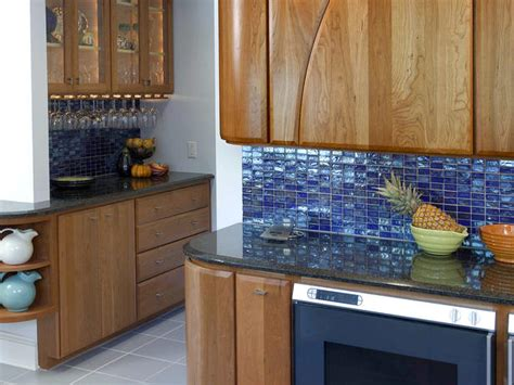 blue kitchen tile backsplash contemporary kitchen photos hgtv