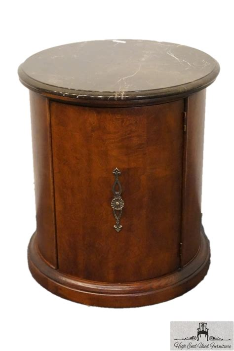 Ebay Dining Room Chairs stanley furniture marble top round storage end table 192