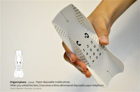 how to make a origami phone origami phone opens a new pathway for paper based technology