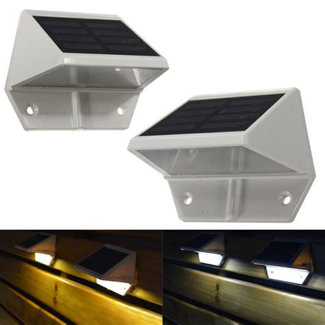 solar lights for stairs solar powered led light pathway step stair wall mounted
