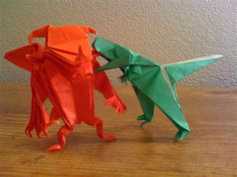 origami monsters why origami monsters always gotta fight betsy s eclection