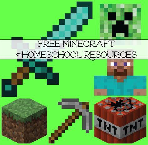 minecraft crafts for free minecraft homeschool resources printables crafts