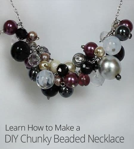 how to make chunky jewelry this diy chunky necklace is trendy and easy to make