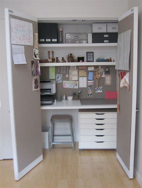 closet desk craft room ideas