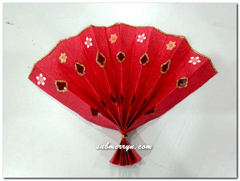 cny paper craft diy new year decorations fan 171 home is