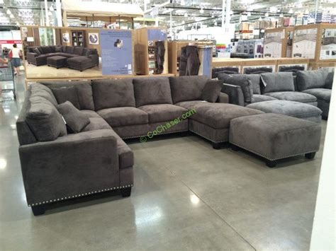 ottoman sectional bainbridge fabric sectional with ottoman costcochaser