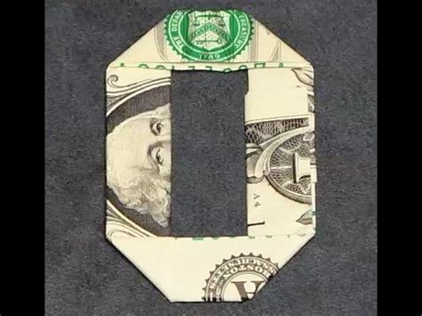 how to make origami numbers fold origami dollar bill number 0 zero