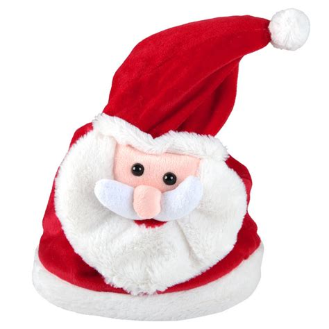 musical santa hat that animated musical moving merry shout song novelty