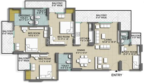 floor plans for 1800 sq ft homes 1800 sq ft 3 bhk 3t apartment for sale in mascot homes