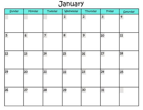 free printable free printable calendar templates activity shelter