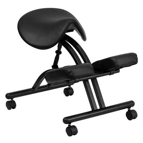 Saddle Ergonomic Chair flash ergonomic kneeling chair with black saddle seat by