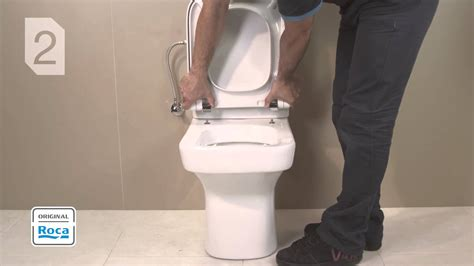 How To Tighten A Duravit Toilet Seat by Seat And Cover Installation Roca Youtube