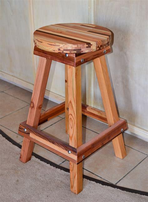 Custom Wood Bar Stools by Backless Wooden Bar Stool Custom Made Redwood Stools